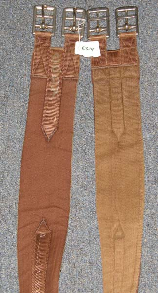 "Cottage Craft 54"" Synthetic English Girth Fabric Girth Brown"