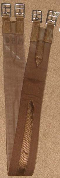 "Cottage Craft 47"" Padded Synthetic English Girth Fabric Girth Brown"