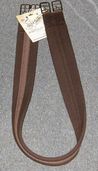 "Whitman Synthetic English Girth Fabric Girth Havana Brown 46"" 48"" 50"""