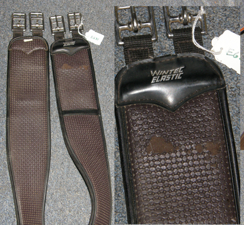 "Wintec 50"" Stretch Elastic Girth Synthetic Shaped English Girth Brown"