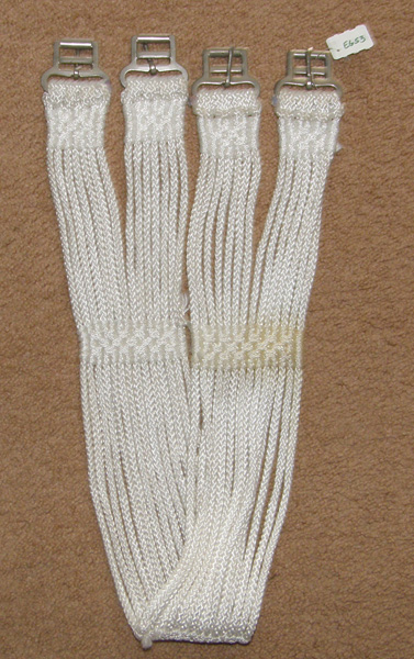 "45"" Poly Cord English Girth White String Girth"