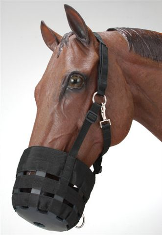 Tough-1 Poly/Nylon Grazing Muzzle w/Halter Yearling Pony