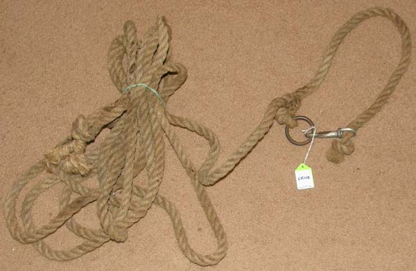 "Neck Rope Sisal Rope Neck Lead Rope 1/2"" x 24 1/2' Natural"