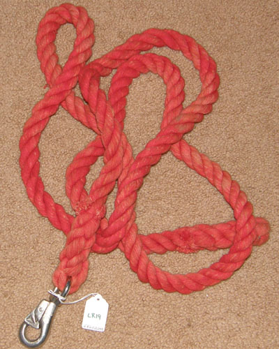 "Cotton Lead Rope With Bull Snap 1"" x 9' Faded Red"
