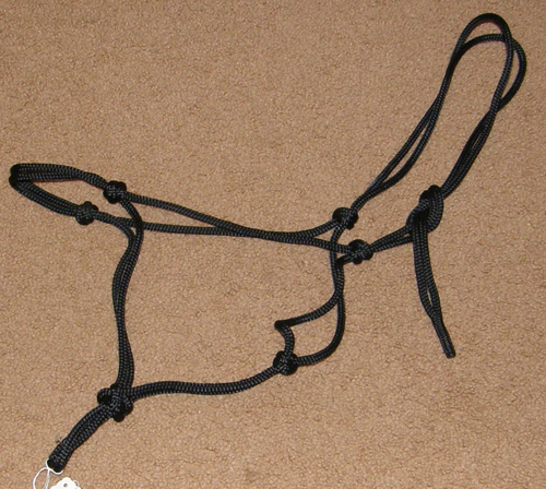 Poly Rope Tied Halter Rope Halter Horse Black
