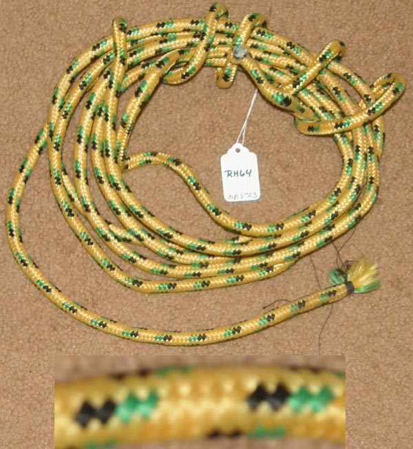 "Rope Halter Rope Make Your Own Rope Halter 3/8"" x 16 1/2' Yellow/Green/Black"