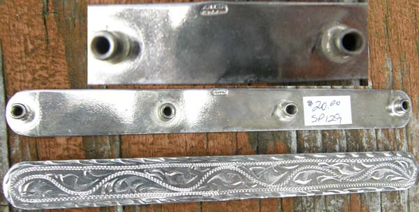 Alpaca Mexico? Montana Silversmiths? Silver Bar Trim Silver Trim Pieces Screw Back Silver Halter Plates Bridle Plates Breastcollar Trim Plates