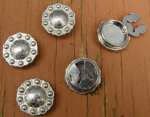 Silver Concho Button Covers Silver Conchos