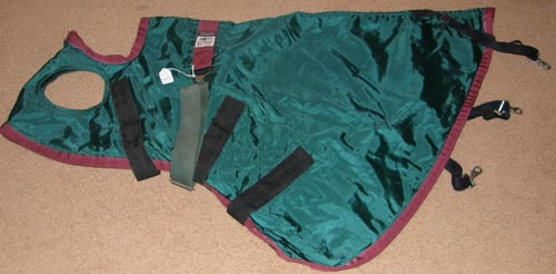 Millers Roma Equi-Lite Thinsulate Blanket Hood Nylon Blanket Hood L Horse Hunter Green/Burgundy