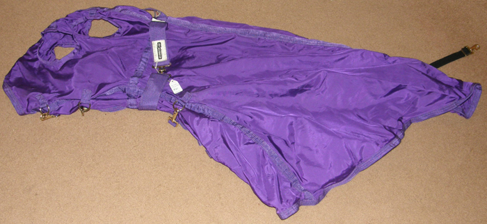 Schneiders Dura Nylon Breathable Sheet Hood Adjusta-Fit Nylon Hood XL Horse Purple