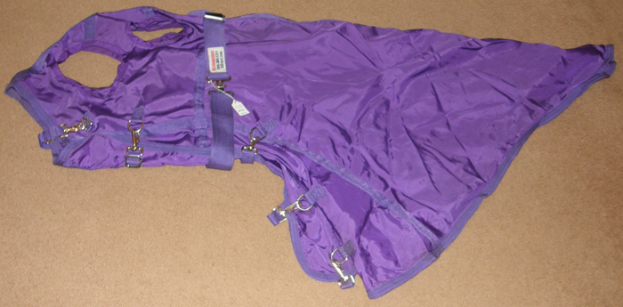 Schneiders Dura Nylon Breathable Sheet Hood Adjusta-Fit Nylon Hood L Horse Purple