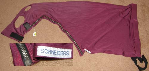 Schneiders Ultraflex Full Separating Zipper Slicker Hood Zippered Slinky Hood Sleazy Hood Lycra Hood M Horse Burgundy
