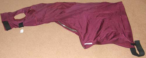 Schneiders UltraFlex Polar Fleece Lined Lycra Stretch Winter Slicker Fleece Lined Zippered Slinky Hood Sleazy Hood M Horse Burgundy