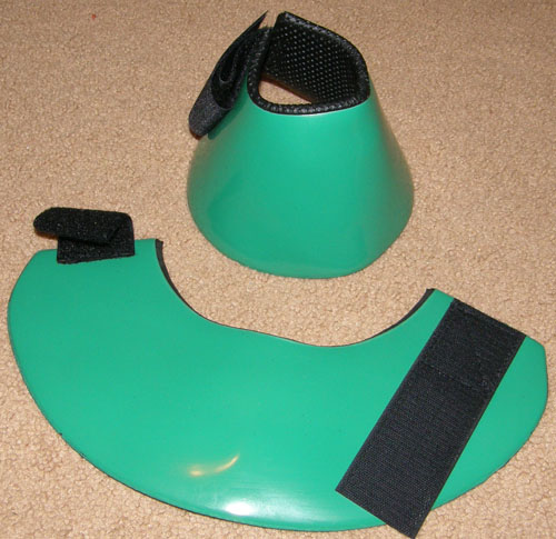 Tough-1 No Turn Bell Boots PVC Smooth Overreach Boots L Horse Kelly Green
