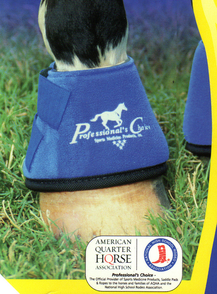 Professional's Choice Quick Wrap Bell Boots Neoprene Overreach Boots M Horse Royal Blue