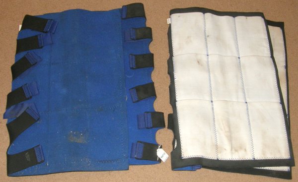 Nine Pocket Ice Boot Horse Leg Icing Soaking Boot Therapy Horse Leg Wrap Blue