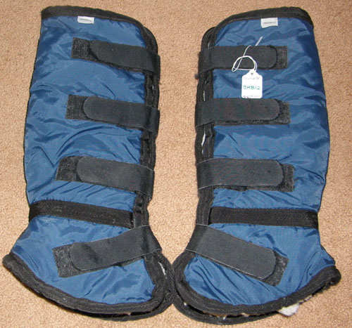 "Courbette 16"" Shaped Fleece Shipping Boots Hind Boots Horse Blue/Black"