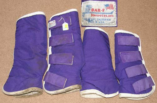 Bar F Shaped Fleece Lined Shipping Boots Contoured Shipping Boots Horse Purple