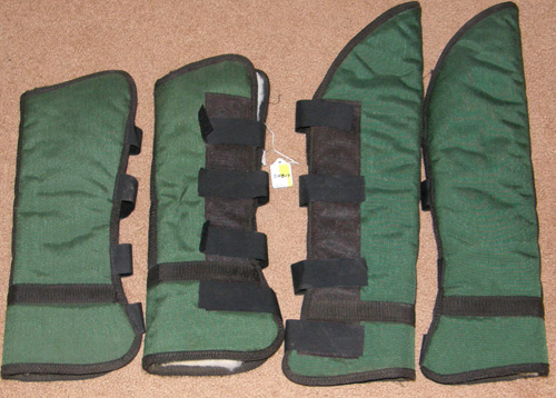 Fleece Lined Shaped Shipping Boots Horse Hunter Green/Black