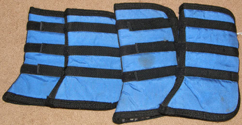 Shipping Boots Fleece Lined Flared Shipping Boots Pony Miniature Horse Blue/Black