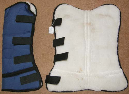 Fleece Lined Flared Shipping Boots Horse Pair Shipping Boots Blue