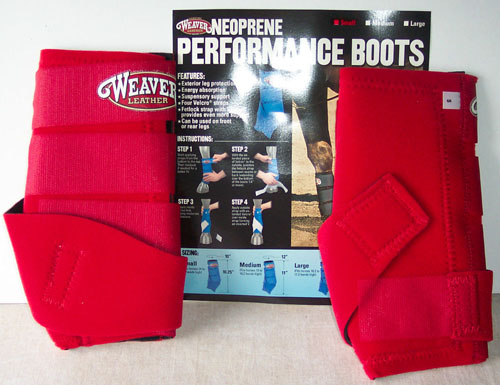 Weaver Neoprene Performance Boots Sports Medicine Boots SMB Boots S Horse Red