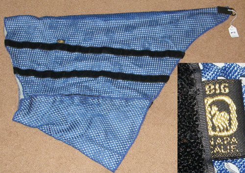 Big D Stretch Mesh Mane Tamer Mane Saver Horse Royal Blue/Black