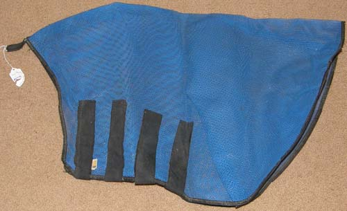 Fabri-Tech Mesh Mane Tamer Mesh Fly Neck Guard Fly Neck Cover Horse Blue/Black