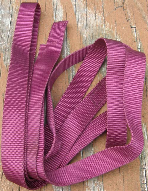 "Nylon Webbing Nylon Straps Burgundy Wine 1"" Wide Replacement Piece"