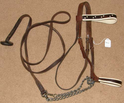Vintage? Lt Breed Patent Leather Show Halter & Lead Set Arabian Morgan Cob Horse