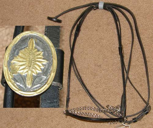 Rolled Leather Arabian Show Halter with Lead Light Breed Show Halter Miniature Horse Pony Show Halter
