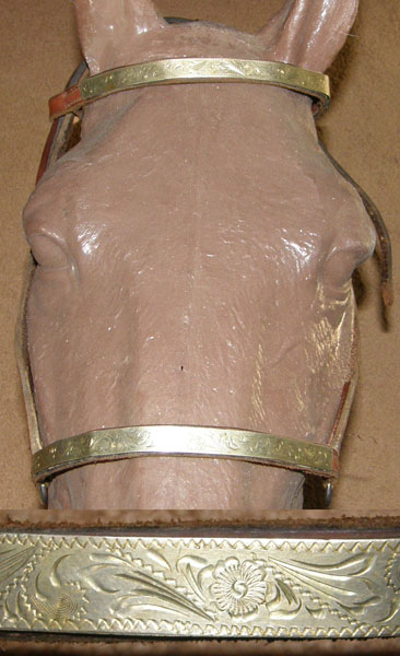 Billy Royal? Circle Y? Vintage Leather Arabian Show Halter Lt Breed Show Halter Silver Trim