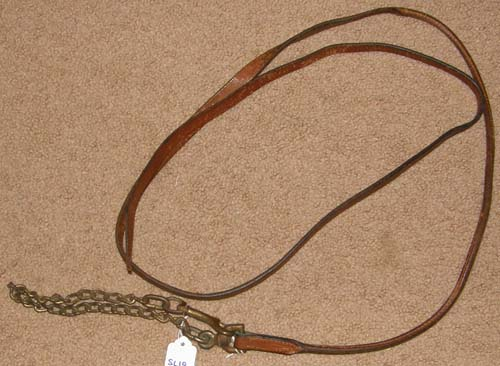 Rolled Leather Show Lead Chain Arabian Light Breed Show Lead