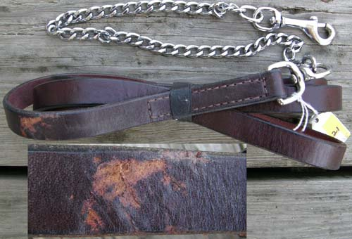 Leather Show Lead Chain Arabian Show Lead Light Breed