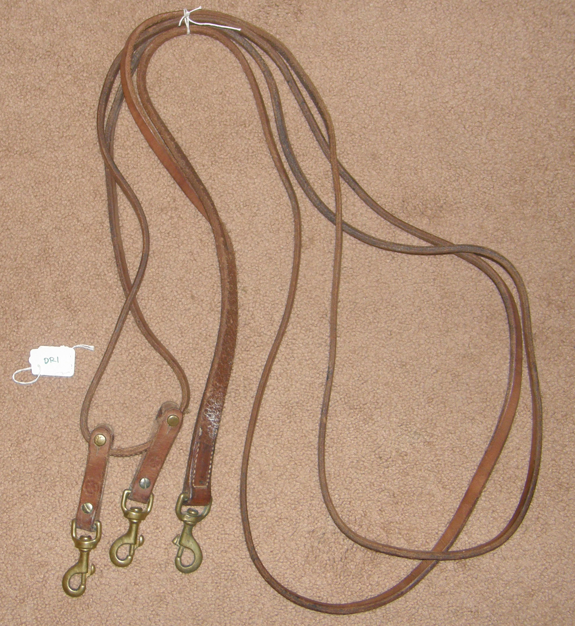 Weaver? Harness Leather Draw Reins Pulley Draw Reins with Snaps