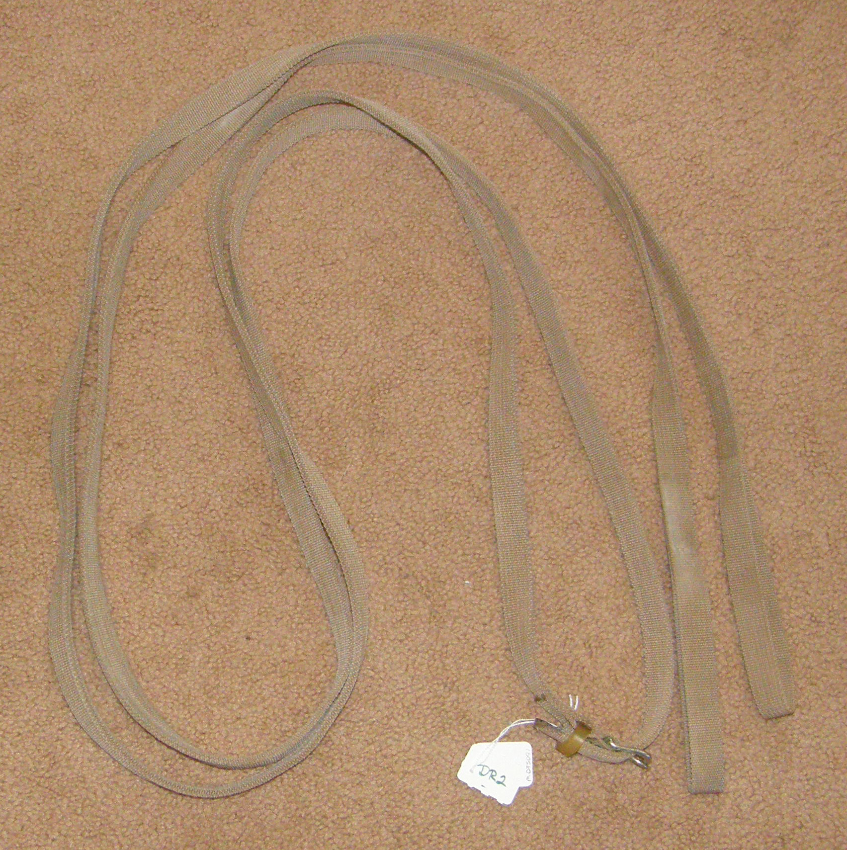 Cotton Web Draw Reins English Draw Reins Tan
