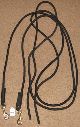 Firm Poly Cord Draw Reins English or Western Rope Draw Reins Side Reins Black