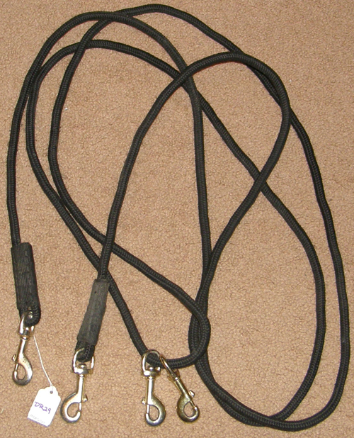 Firm Poly Cord Draw Reins English or Western Rope Draw Reins Pulley Draw Reins Black