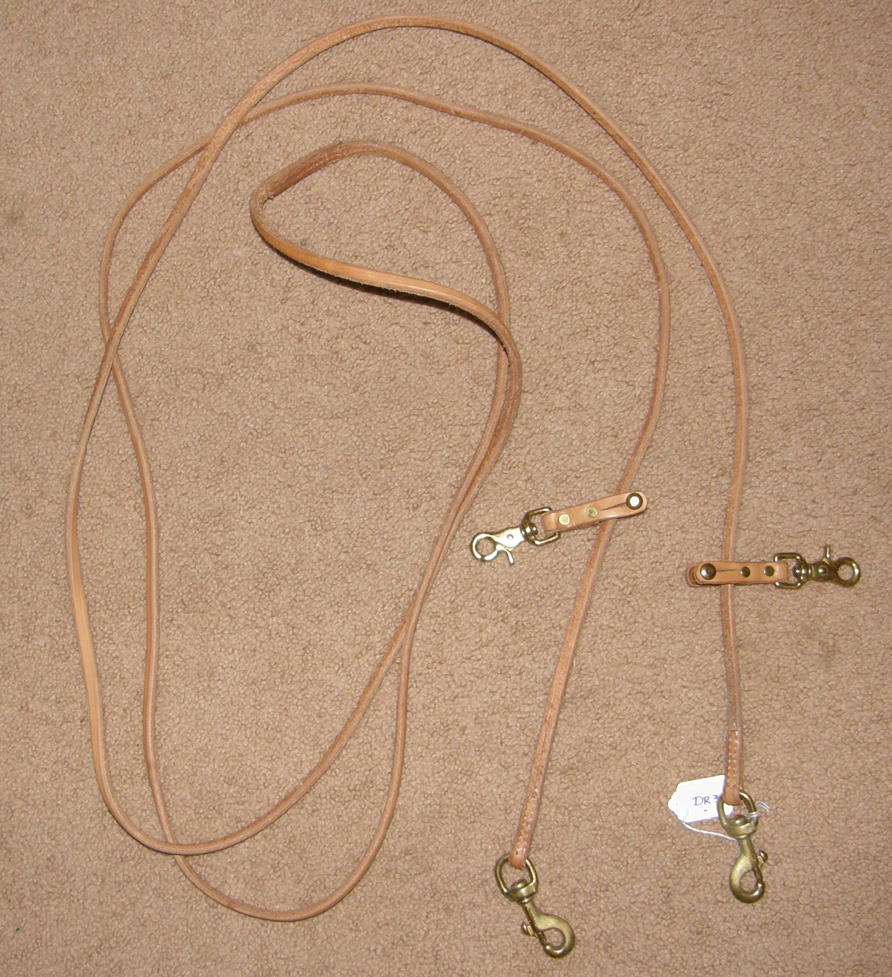 Tory? Harness Leather Draw Reins Pulley Draw Reins with Snaps Draw Reins