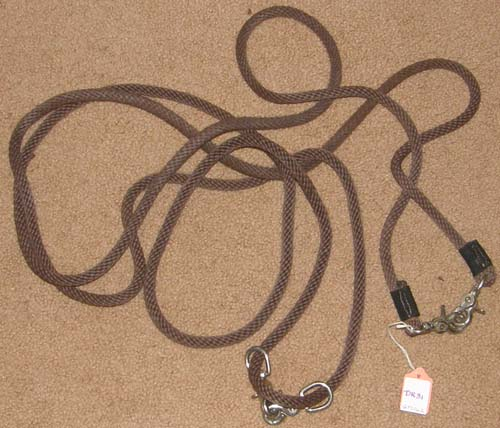 Soft Poly Cord Draw Reins English or Western Rope Draw Reins Pulley Draw Reins Brown