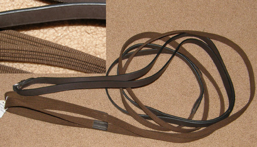 Web Front English Draw Reins Cotton Web Draw Reins Leather Draw Reins Brown