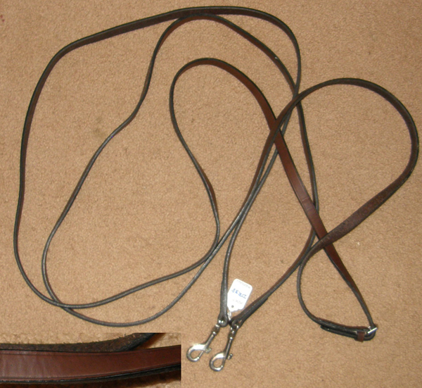 HDR? Leather Draw Reins with Snaps English Draw Reins Western Draw Reins