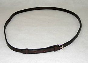 Nunn Finer Leather Neck Grab Strap Draft Horse Replacement Throatlatch English Throat Latch Western Throatlatch Dark Havana Brown Horse Jockey Leather Strap