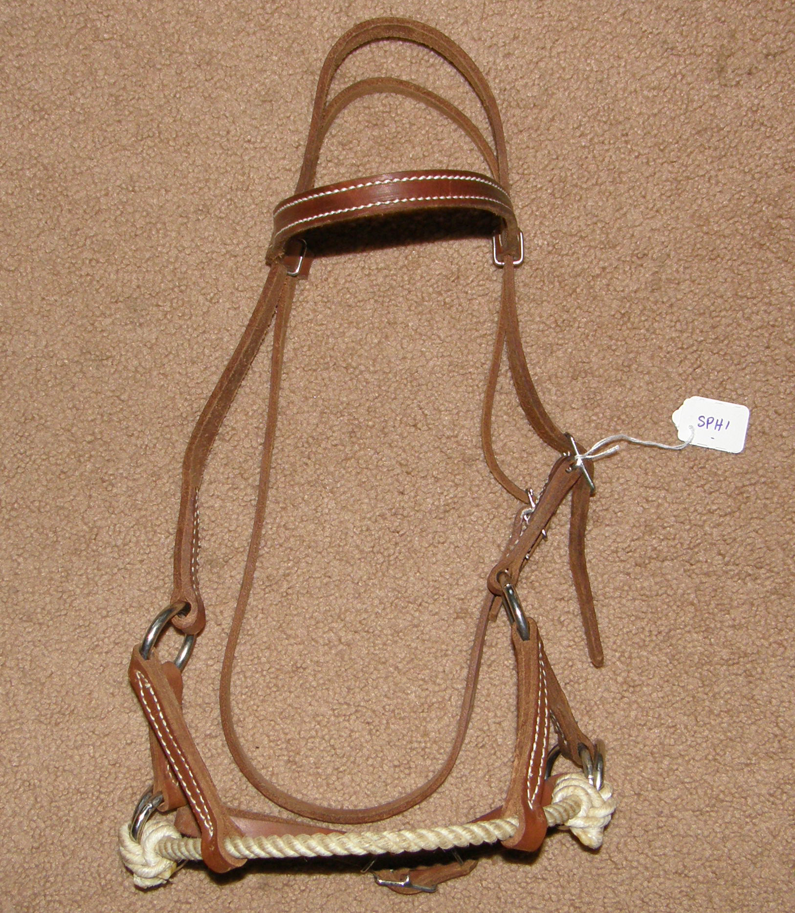 Rope Nose Side Pull Headstall Sidepull Training Headstall