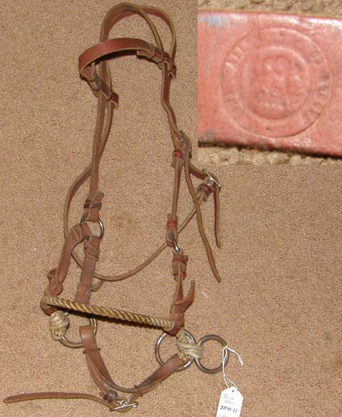 Bona Allen Rope Nose Side Pull Headstall Sidepull Training Headstall