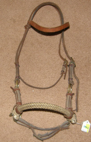 Double Rope Nose Side Pull Headstall Sidepull Training Headstall