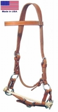 Western Heritage Rope Nose Side Pull Headstall Sidepull Training Headstall