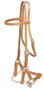 Tory Rope Nose Side Pull Headstall Sidepull Training Headstall Chestnut Horse