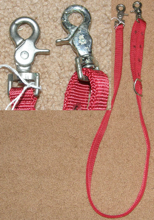 Nylon Tie Down Adjustable Western Tiedown Strap Red