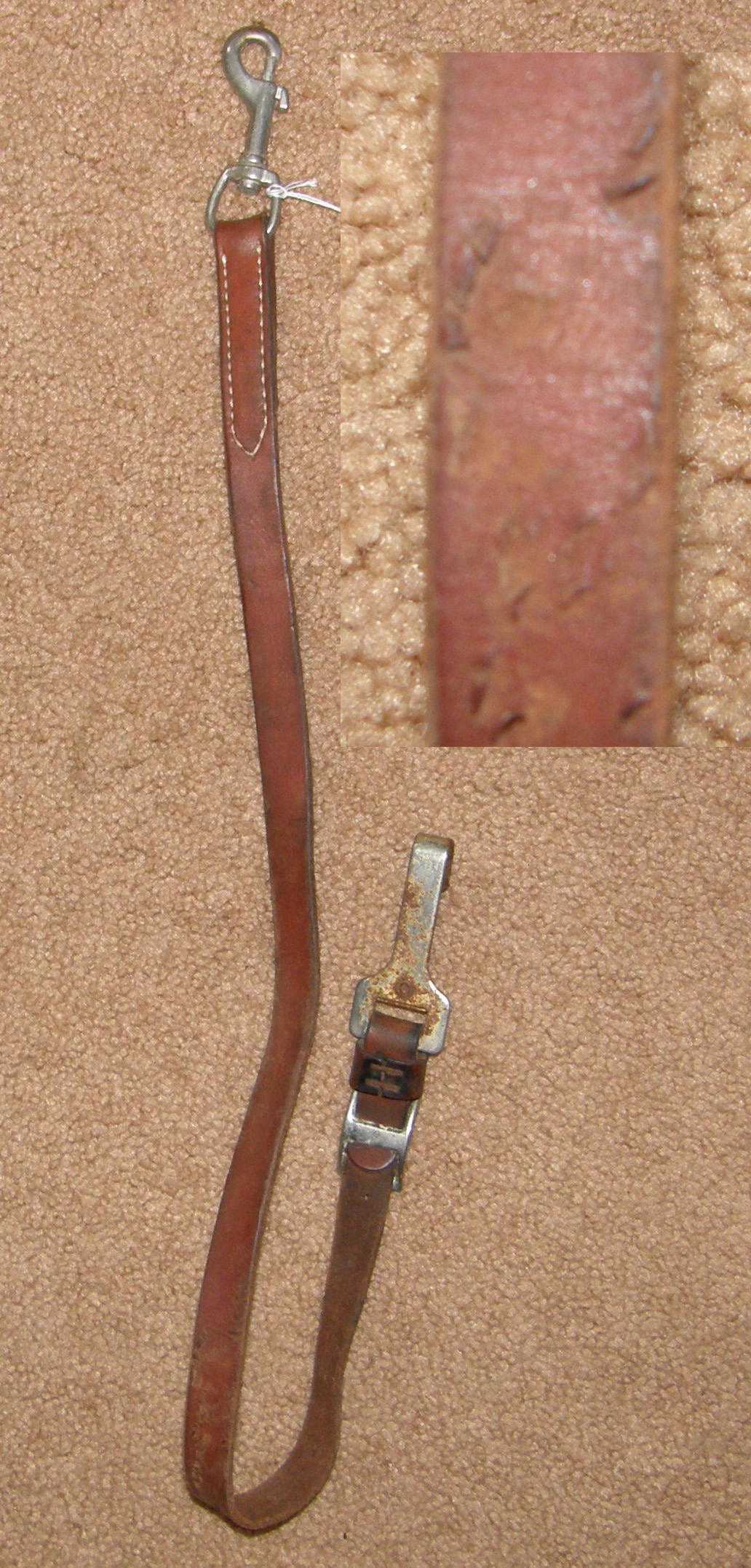 Leather Tie Down Western Tiedown Strap Brown